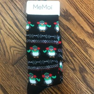 Penguin holiday winter socks